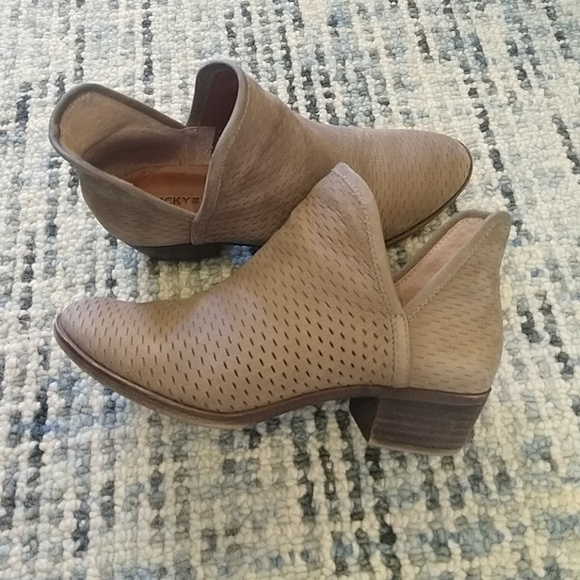 3a7a93d74918e Lucky Brand Shoes - Lucky Brand Baley Perforated Chop Out Booties